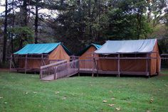 Camp Redwing - wooden floors tents - loved this place! I STAYED IN THE TENT ON THE LEFT!!!!!!!
