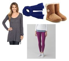 """Fall fashion"" by lily-wildersmith on Polyvore featuring Allen Allen, lululemon and UGG Australia"