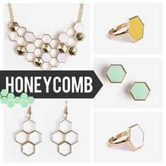 The entire new honeycomb collection is now available! See the rest of the collection at Urban Peach Boutique!
