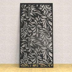 Motif floral que vous pouvez utiliser pour idees de realisation sur mesure sur www.lemetalist.fr Living Room Partition Design, Pooja Room Door Design, Room Partition Designs, Laser Cut Screens, Laser Cut Panels, Deco Design, Glass Design, Metal Walls, Metal Wall Art