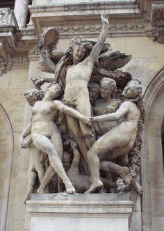 """Carpeaux carving entitled """"The Dance"""". Opera Garnier - Paris."""