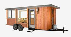 杉の木とcorten鋼で覆わ、このモバイル住居は気候の範囲に適した快適な生活の宿泊施設を提供しています。 'と…