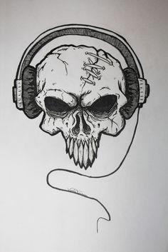 Badass tattoo designs skull tattoo design thecoffeebaron for Badass first tattoos