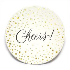 Sugar Paper Bubbly Cheers Coasters -- Website with good gifts