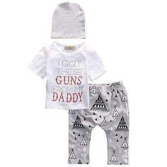 Baby Boy 3 Piece Guns Outfit