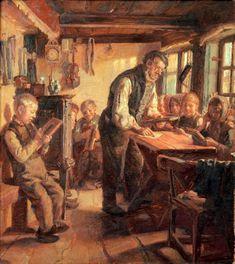 """A Village School In Skagen""  by Michael Peter Ancher (1849 – 1927, Danish)"