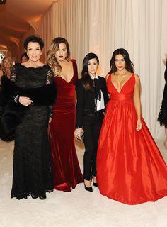 Kris Jenner, Khloe Kardashian, Kourtney Kardashian, Kim Kardashian from 2014 Oscars: Party Pics Kim Kardashian, Kardashian Family, Kardashian Fashion, Kardashian Photos, Kardashian Kollection, Kris Jenner, Celebs, Celebrities, Nice Dresses
