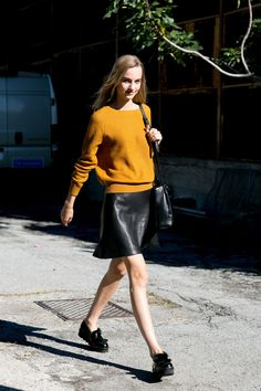 The Best Off-Duty Model Street Style from Spring 2016 Fashion Weeks   StyleCaster