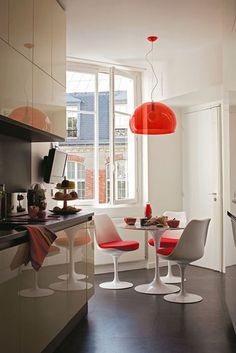 Kartell in red. No photographer credit