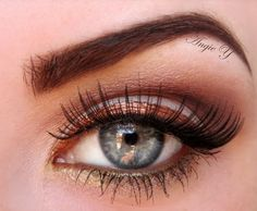 Love the copper eyeliner with the copper eyeshadow crease
