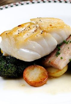 Cod steaks baked in oven.Very easy fish recipe. Cod steaks baked in oven.Very easy fish recipe. Cod Recipes Oven, Cod Fillet Recipes, Cod Fish Recipes, Pork Belly Recipes, Seafood Recipes, Cooking Recipes, Baked Cod Recipes Healthy, Healthy Dinners, Salmon Recipes