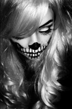 modern take on day of the dead makeup.