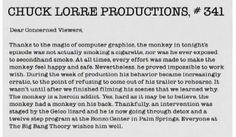 Chuck Lorre Vanity Cards 341