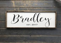 Family Name Sign. Wood Family Sign. Wedding Gift. Established sign. Last name sign. Wood Framed Sign. Farmhouse Sign.