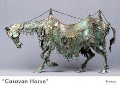 David Crawford: 'Caravan Horse', bronze. William Zimmer Gallery - Sculpture -