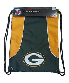 Look at this Green Bay Packers Hunter Green Axis Drawstring Backpack on #zulily today!
