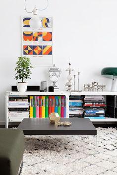 Coloured folder storage @ La maison d'Anna G.