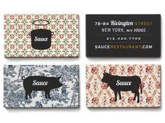 BRANDING Sauce Restaurant identity via Communication Arts - designed by Meter Industries Sauce Restaurant, Restaurant Identity, Restaurant Concept, Typography Inspiration, Graphic Design Inspiration, Web Design, Print Design, Logo Design, Business Card Design