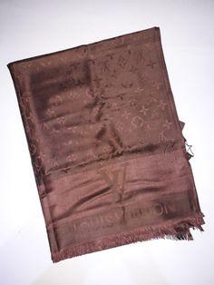 Louis Vuitton beautiful scarf brown 70cm. x 180cm.  fashion  clothing  shoes e24b26e3e97