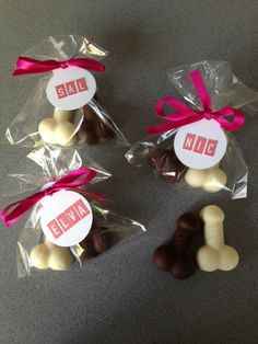 Penis favours, hens party, bridal shower, penis chocolate