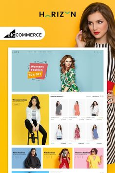 Buy Horizon Multipurpose Stencil Bigcommerce Theme by WinterInfotech on ThemeForest. Overview Horizon – Multipurpose Stencil Bigcommerce Theme is a modern, clean and professional BigCommerce theme is f. Ecommerce Website Design, Website Design Layout, News Web Design, Design Design, Graphic Design, Photoshop, Screen Design, Website Themes, Web Design Inspiration