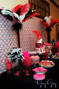 Fabulous Features by Anders Ruff Custom Designs: {Featured Clients} A Hot Pink Glamorous Casino 40th Birthday Party