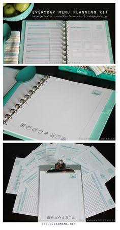 Clean Mama's Everyday Menu Planning Kit via Clean Mama