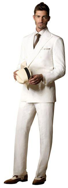 männer anzug modern komplett weiß