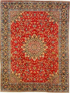 9 5 x 12 4 Red Mashad Persian Rugs
