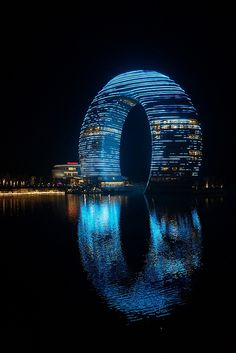 Night look of Sheraton Huzhou - Huzhou,China, Design by Yansong Ma