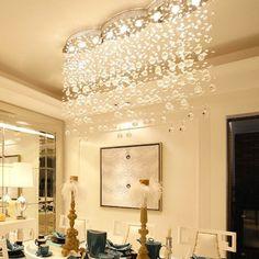 Objective Luxury Fashion Creative Crystal Ceiling Light Rectangular Simple Led Lamps For Bar Home Lighting Corridor Modern Ceiling Lights