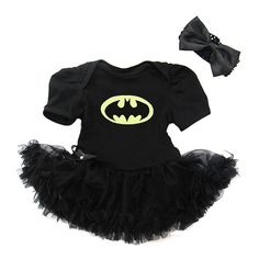 Batman Superhero Black Pettiskirt Dress With Headband