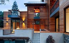 modern house siding modern exterior siding modern wood siding deck in exterior contemporary with handrail modern house cedar siding modern house siding ideas Cedar Siding, Wood Siding, Exterior Siding, Wood Slats, Wood Cladding, Ipe Wood, Wood Paneling, Modern Exterior, Exterior Design