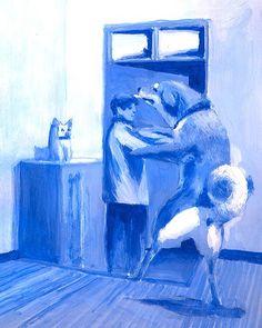 あの犬4 #shibainu #shiba #life #love #lights #tatsurokiuchi #japan #ultramarine #illustration #illustrator #acrylic #dog #friend #people #happy