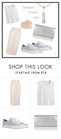 """""""Summer Metallic Style"""" by littlemoleboutique on Polyvore featuring Topshop, Miss KG, metallic, summerstyle and fashionable"""