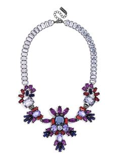 Viola Gem Bib Necklace | BaubleBar