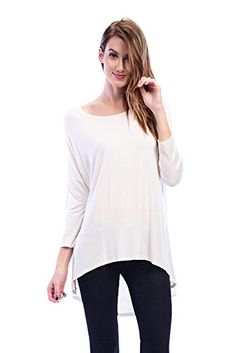 c86925afdceca Womens Stretch Boho Bohemian 3/4 Sleeve High Low Tunic Top Shirt Blouse at Amazon  Women's Clothing store: Pregnancy Outfits ...