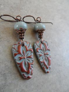Brocade ... Lightweight Polymer Clay and Copper by juliethelen