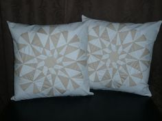 Quilted Pillow in White and Cream by Erindee on Etsy, $70.00