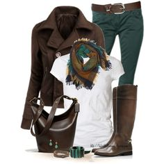 Brown & Teal by tufootballmom on Polyvore featuring AllSaints, Doublju, Tory Burch, Coach, Marni, Club Monaco, Wet Seal, Contileoni and Maison Scotch