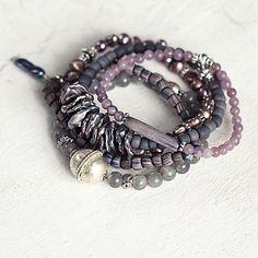 Luxury Pearl And Gemstone Bracelet Set
