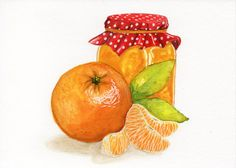 Check out this item in my Etsy shop https://www.etsy.com/listing/237264067/jam-orange-original-watercolor-painting