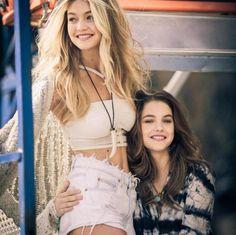 """vsmodels-and-angels:  Gigi Hadid & Barbara Palvin for Rosa Chá collection """"Carnival Of Dreams"""""""