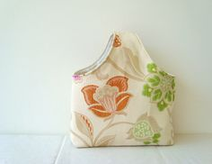 Fully reversible bag in a floral heavyweight cotton by OnePerfectDay