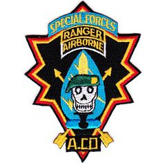 A Co 1st Airborne Ranger Battalion 10th SFGA Patch
