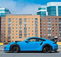 Porsche 991 GT3 RS painted in paint to sample Mexico Blue Photo taken by: @brandon_cote_ on Instagram (@schuyleur on Instagram is the owner of the car)
