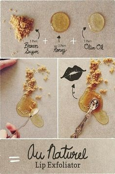 Mix these ingredients to make a lip exfoliator that will soften and improve your lips.                                                                                                                     Hate paying 20 plus dollars for Bare Escentuals Mineral Veil? Here is a cheaper