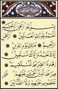 Fatiha Suresindeki Sırlar
