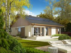 Wizualizacja AC Rafael G1 30 STOPNI CE House Architecture Styles, Architecture Design, England Houses, Modern Bungalow House, My House Plans, Level Homes, House Elevation, Garage Design, Small House Design