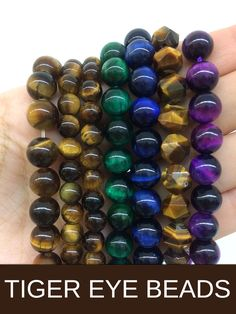 Make your jewelry pop with our Tiger Eye gemstone beads! We carry natural stone as well as brightly dyed variety. Beading Supplies, Jewelry Supplies, Bracelet Making, Jewelry Making, Beaded Jewelry, Beaded Bracelets, Crystal Snowflakes, Tigers Eye Gemstone, Tiger Eye Beads